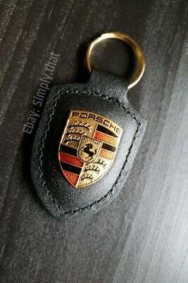 WAP.050.090.12 Brown Porsche® Crest Key Fob
