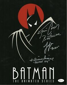 Cast-x3-Autograph-Signed-11x14-Photo-Batman-Animated-Series-JSA-COA