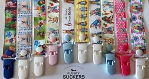 PETER RABBIT / BABY Handmade Dummy Clips  / Pacifier Clips / Chain