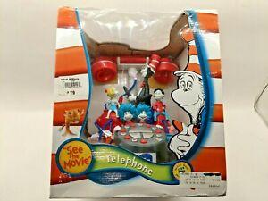Dr Seuss cat in the hat telephone w/ original box