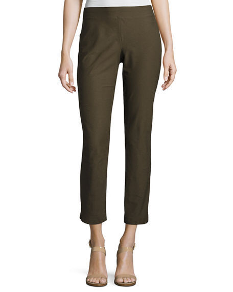 NWT EILEEN FISHER Surplus Stretch Washable Crepe Slim Ankle Pant XLarge   168 XL
