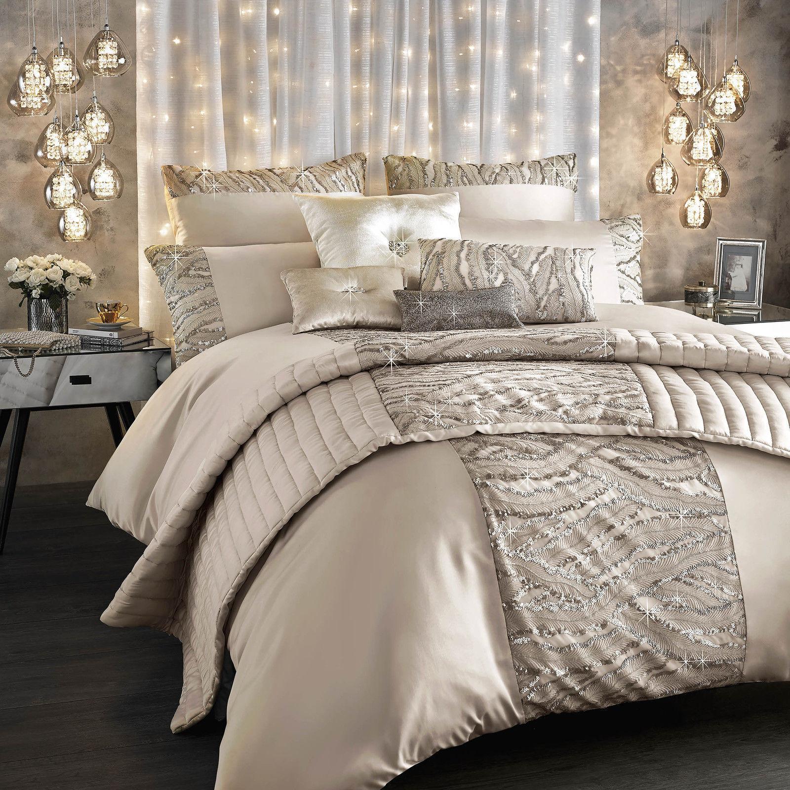 Designer Kylie Minogue Bedding CELESTE Embelished GlamGoldus Bedding