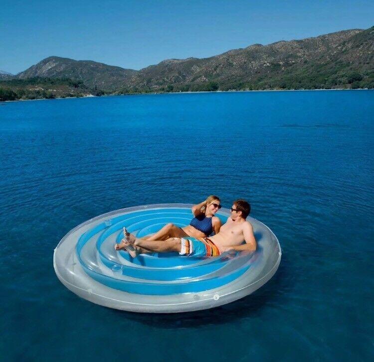 Bestway Coolerz H20GO 8ft 4  (254cm) Aqua bluee Floating Island Float Lilo SunBed