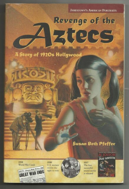 2000 Revenge of the Aztecs Susan Beth Pfeffer Paperback Book 1920s Hollywood