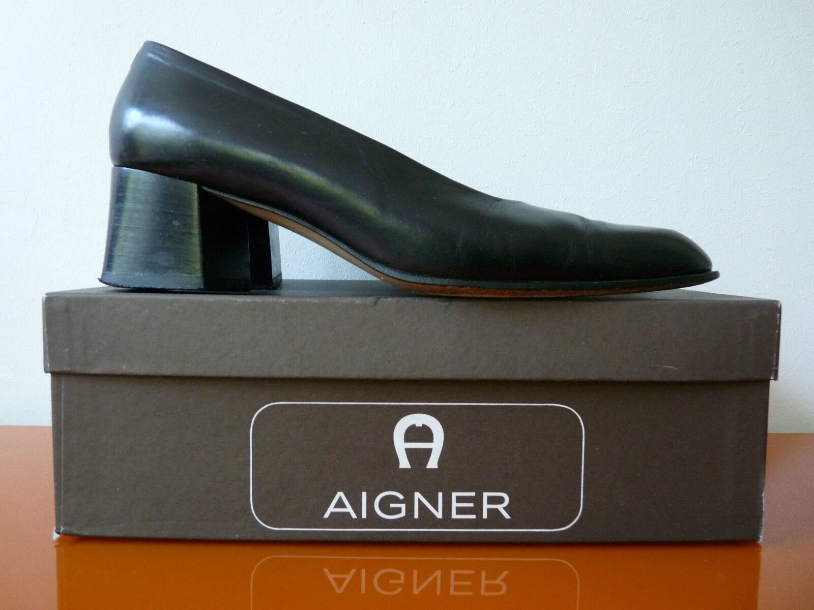 Pumps Business Aigner Orig. Halbschuhe Schuhe TOP 39 Gr
