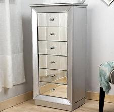 Jewelry Armoire Standing Cabinet Mirrored Necklace Storage Organizer