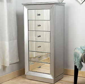 Charmant Image Is Loading Mirrored Jewelry Armoire Cabinet Tall  Storage Chest Organizer