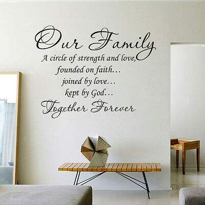 Our Family Together Forever Wall Quote decal Removable stickers decor Vinyl Art