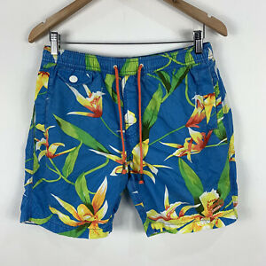 Superdry-Mens-Board-Shorts-Small-Multicoloured-Floral-Elastic-Waist-Drawstring