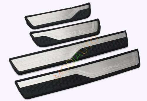 Stainless Steel Door Sill Trim Guard Protectors 4PCS For Honda CRV CR-V 2017
