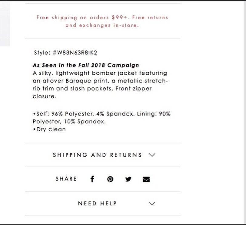 GUESS baroque Rae bomber jacket, women's size Sma… - image 3
