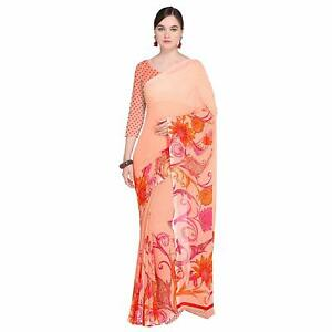53ce0737f1 Image is loading Pink-Bollywood-Saree-Party-Wear-Indian-Ethnic-Wedding-