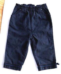 Pantalon 12 mois 1 An velours Bleu fille garcon Bebe JACADI Etiquette 40.00 €