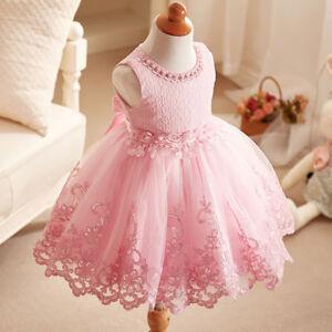 9d9a80f1b9dec Chargement de l image en cours Mode-Enfant-Fille-Mini-Princesse-Robe-Tulle- Dentelle-