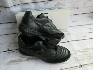 Lotto-Men-Arbitro-SecTurf-Soccer-Shoe-Cleat-Black-Leather-78344-VINTAGE-NEW-NOS