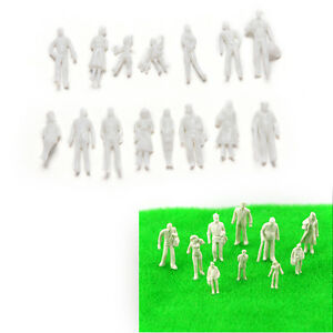 100Pcs-Scale-1-100White-Model-People-Unpainted-Landscape-Figures-Models-Toys-BD