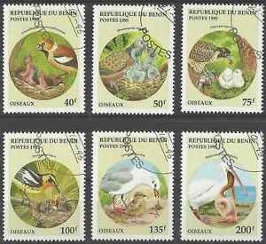 Timbres-Oiseaux-Benin-708AN-AT-o-lot-16357