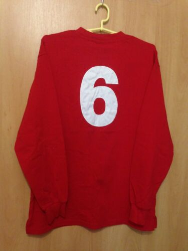 ENGLAND NATIONAL M 1966 REPLICA SCORE DRAW FOOTBALL SHIRT JERSEY LS