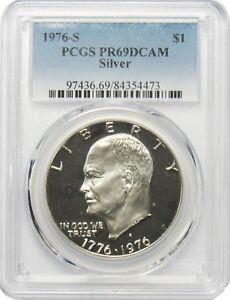 1976-S-1-Eisenhower-Ike-Silver-Dollar-PCGS-PR69DCAM
