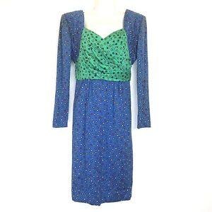 diane-dickinson-vintage-polka-dot-100-cotton-dress-size-6