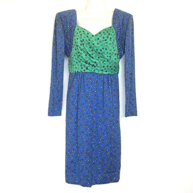diane dickinson vintage polka dot 100% cotton dress size 6