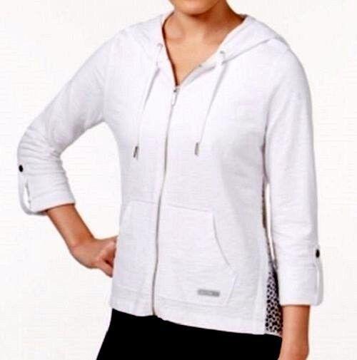 b2cebc37c Women's Calvin Klein Performance Quick Dry Cotton Hoodie Lace Full Zip XL  for sale online | eBay