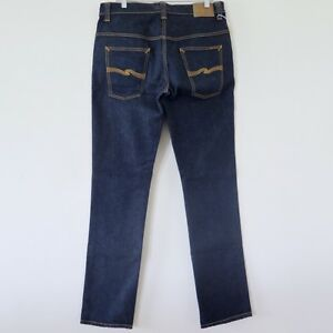 NUDIE MENS JEANS TAPE TED ORGANIC DENIM NJ3734 38x36 MADE ITALY ...