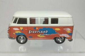 WELLY-1963-Volkswagen-T1-Bus-Orange-White-49764-Classical-Bus-STORYLAND-FUN-BUS