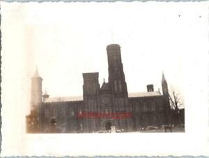 Photo-1930-039-s-Washington-DC-Street-Scene-View-of-Smithsonian-Castle-Museum