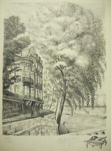 Collection Ici Robert Mahelin (1889-1968) L'hôtel Lambert Paris Gravure Originale Signée 1947