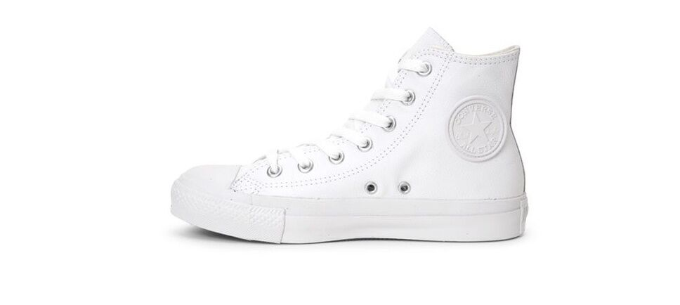 CONVERSE CHUCK TAYLOR ALL-STAR WHITE LEATHER  MEN'S SHEOS  D1T406C