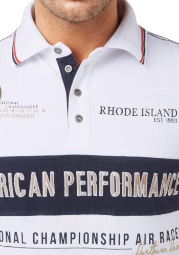 Rhode Island Polo BIANCO NUOVO!! PLUS TAGLIE L-xxxxl Kp 44,99 SALE/%/%/%