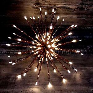 Weihnachtsdeko Led Stern.Details Zu 3d Led Stern Weihnachtsstern Sternenball 80led Kupfer 30cm Weihnachtsdeko Blink