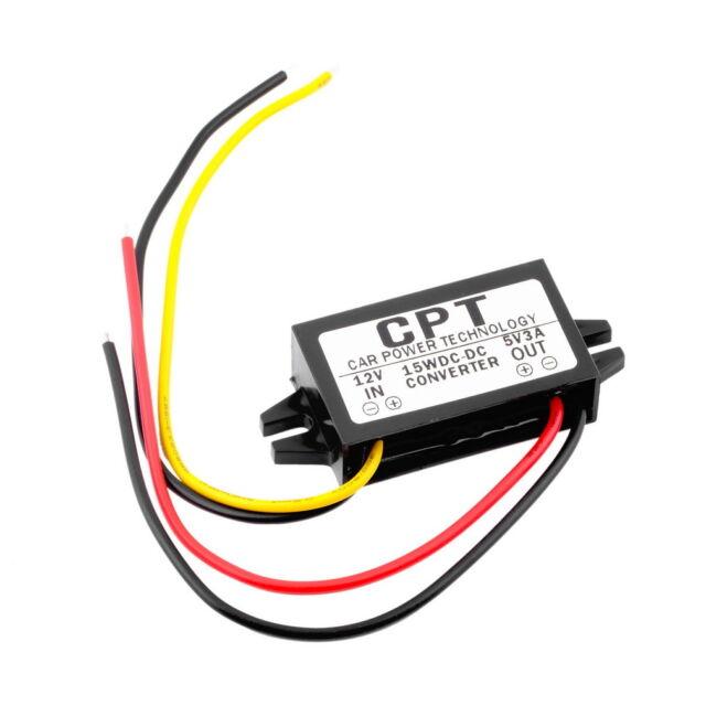 1PCS DC/DC Converter Regulator 12V to 5V 3A 15W Car Led Power CPT-UL-1 MC