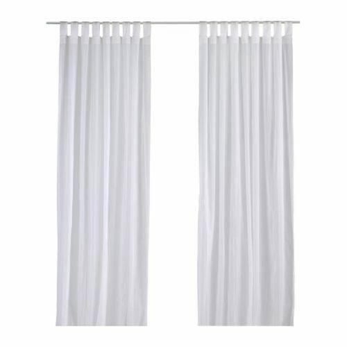 Ikea Matilda Sheer Curtains 1 Pair White 140x250 Cm