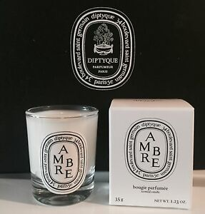 diptyque paris ambre bougie candle 35g new in box amber ebay. Black Bedroom Furniture Sets. Home Design Ideas