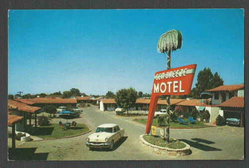 Ca 1952 PPC SEA BREEZE MOTEL MODESTO CA, MINT