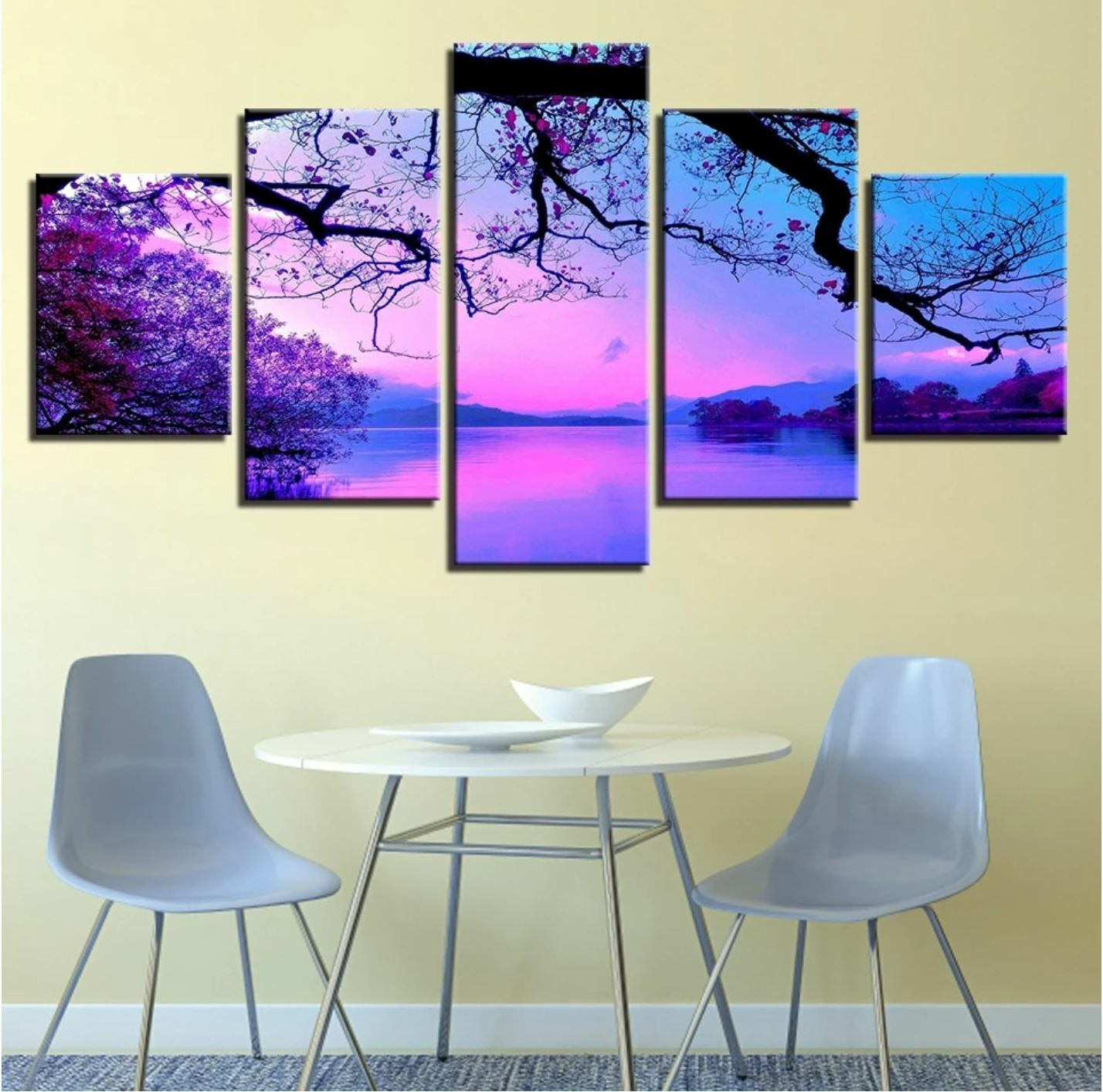 Sunset Lake In South Thailand 3 Piece Photographic Print On Wrapped Canvas Set For Sale Online Ebay