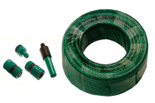 compatible HOZELOCK connecteurs 40 m longueur Green Braded tuyau de jardin