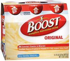 BOOST Nutritional Energy Drinks Vanilla 48 oz