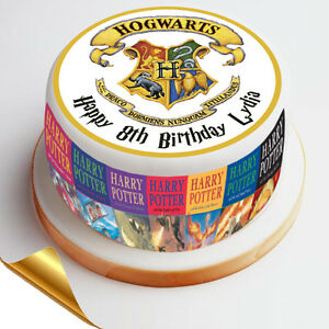 Harry Potter Personalised Edible Icing Cake Wrapper Toppers Round Ebay
