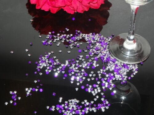 Duo Couleurs Mariage Table Scatter Cristaux Diamants Confettis Décoration faveur