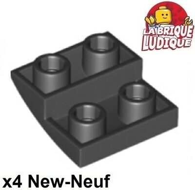 Lego 4x Slope curved inverted pente courbe inversé 2x2 noir//black 32803 NEUF