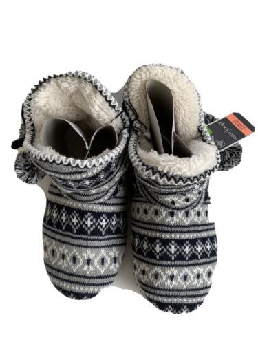Memory Foam Blue and Gray 7-8 Westloop Women's Slippers Booties Size M