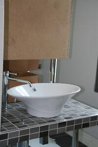 Vasque Lavabo à Poser Avec Trop Plein Et Bonde à Clapet Rotatif Ebay
