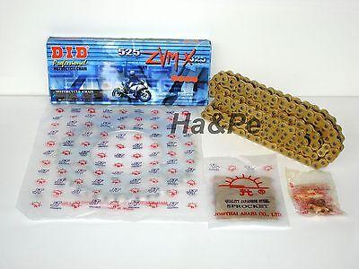 * Ducati 1000 SS DID Kettensatz chain kit ZVM-X 525 G&G gold 2003 - 2004