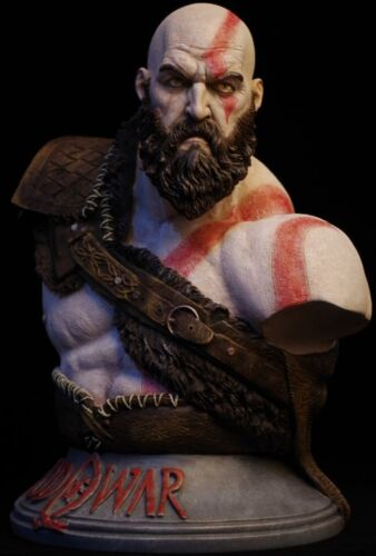 God of War Kratos 1/3 Bust Figure Statue Resin Toy Collectibles Unpainted/Copper