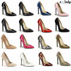 Pleaser-Sexy-20-Womens-Shoes-5-034-Stilettos-High-Heels-Pointy-Toe-Courts-Pumps