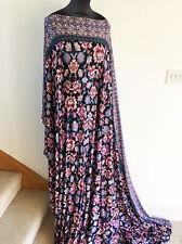 CELESTIAL Fiorato Acquerello / stampa floreale Stretch Jersey Tessuto Dressmaking