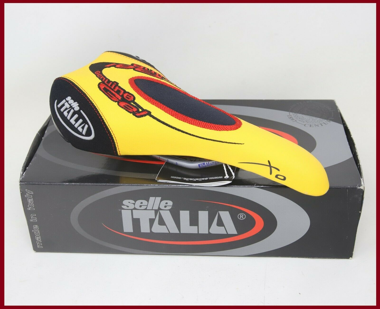 NOS NIB SELLE ITALIA XO SADDLE YELLOW SEAT VINTAGE MTB MOUNTAIN BIKE BICYCLE